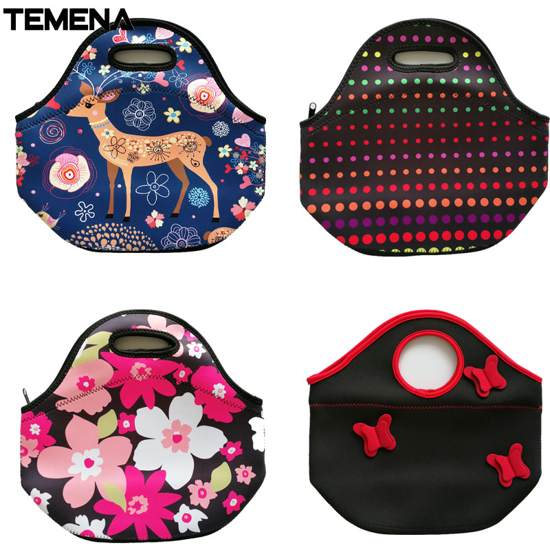 778a9c701b6d Temena Neoprene Lunch Bag Large Gourmet Lunch Tote Insulated Lunch ...
