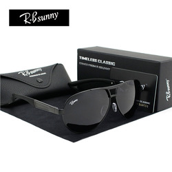 أزياء الماركات الاستقطاب النظارات الشمسية الرجال الأعمال الكلاسيكية نظارات عالية الجودة كتلة القيادة وهج UV400 حملق R. Bsunny R1611