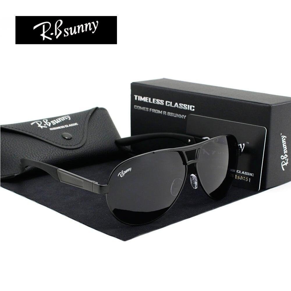 Модные бренды поляризованные солнцезащитные очки Для мужчин Бизнес высококачественные классические солнцезащитные очки Блок вождения блики UV400, R. bsunny r1611