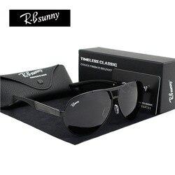 Mode Marken polarisierte sonnenbrille Männer Business Klassische hohe qualität sonnenbrille block Driving glare UV400 goggle R. Bsunny R1611