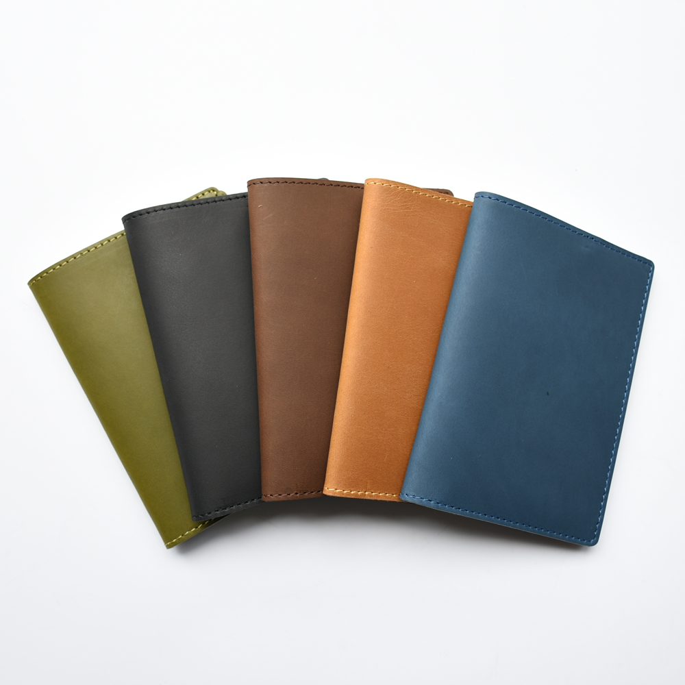 Vintage Mini Leather Multi-Function Passport Cover Holder Case Notebook Organizer Journal Diary Cowhide Handmade
