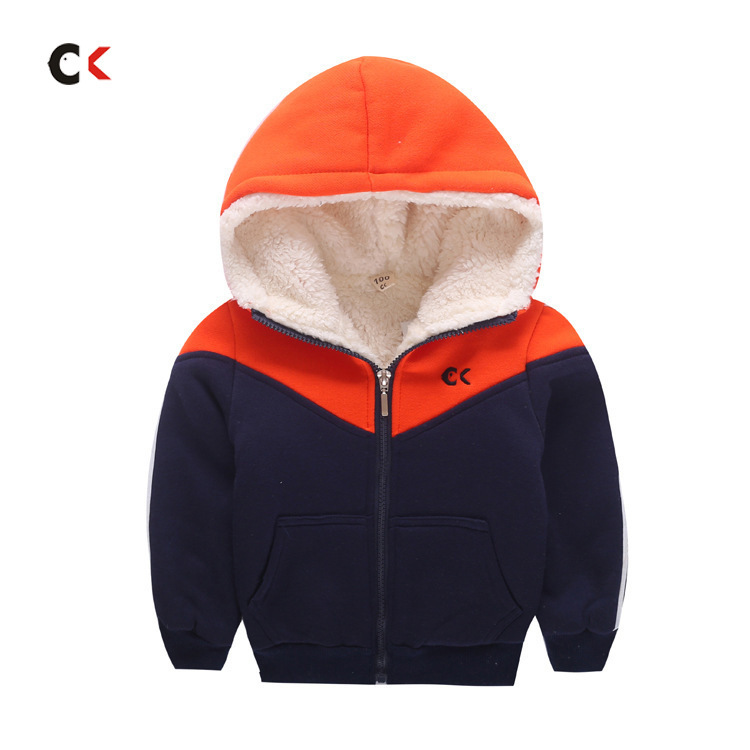 Coat Cotton-Padded Jacket Winter Children of Made Garment Warm Boy's