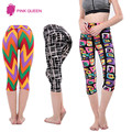 2016 New Arrivals Leggins Sporting Women Fitnesss Multicolour Printed Pants High Waist Improve Hip Leggings Slim Sexy Wear