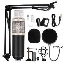 Profesjonalny mikrofon pojemnościowy bm800 nagrywanie dźwięku bm 800 mikrofon KTV mikrofon Karaoke zestaw Mic W/stojak na komputer