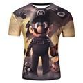 2016 Fie Size Water droplets move 3D printed t-shirts, punk 3D short sleeve T-shirt M - 4XL , 6 style Men men T  shirt