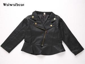 Image 2 - Waiwaibear puレザージャケットのウインドブレーカーベビージャケットショートコート服幼児春 & 秋子供のコート