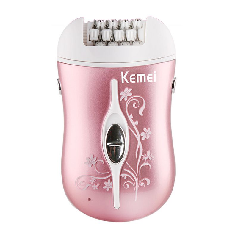 Kemei Rechargeable 3 In 1 Hair Remover Device Epilator Hair Shaver Removal for Women Lady Epilator Electric Foot Care Tool kemei lady rechargeable electric epilator portable hair removal machine wireless wet dry women shaver full body skin use km 1187
