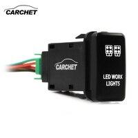 CARCHET светодиодный светильник переключатель кнопочный переключатель с разъемом провода комплект лазерный светодиодный светильник S символ ...