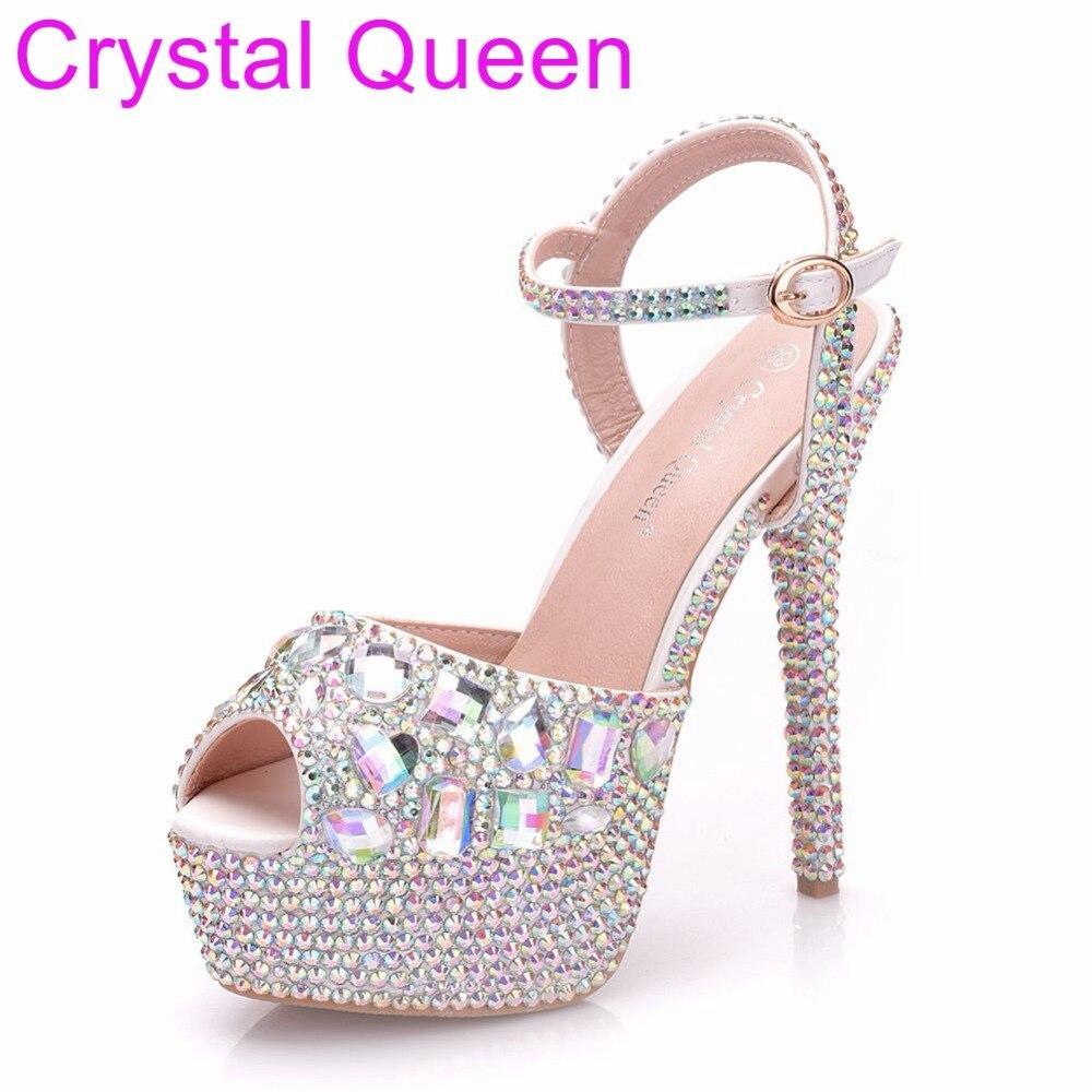 14cm Plataforma Cm Los Sandalias Reina Imitación Altos Zapatos 14cm Multi  Tacones Tacón Alto Diamantes Talones De Cristal Delgada silver 14 Boda  qnqwIAaR 64c245b0ada2