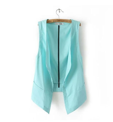 Novetly 2016 Fashion Solid Linen Casual women's vest Female Sugar Colors Sleeveless Suit Vests Waistcoat Women Clothing