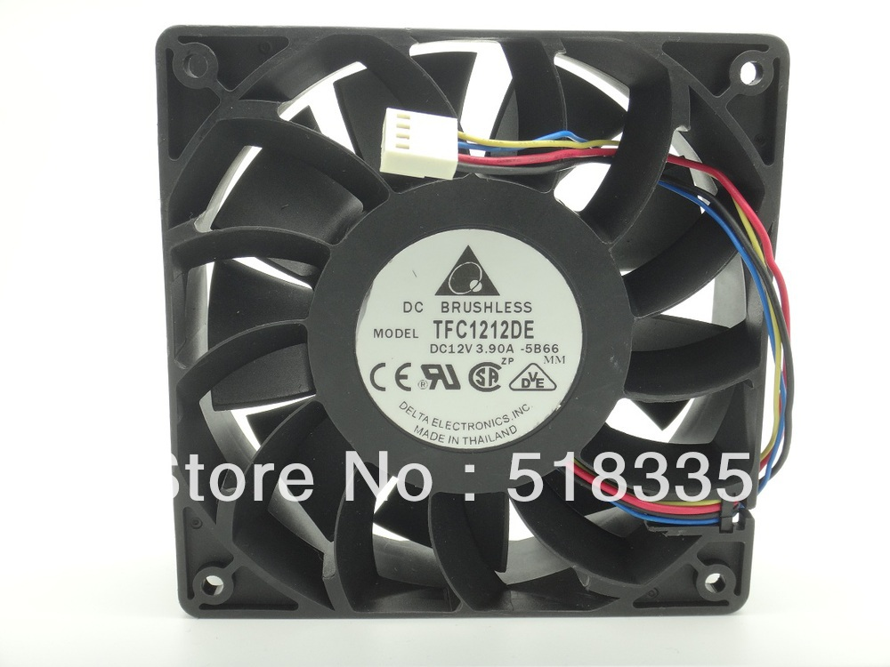 for delta 12CM  120mm 1225 12025 120*120*25MM PWM Fan TFC1212DE 252CFM vs PFB1212UHE Most Powerful Server CaseFan