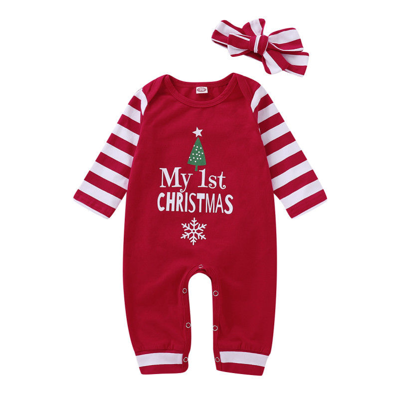 Baby Boy Clothes 2018 Funny My First Christmas Girl Romper ...