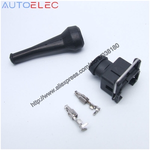 Image 1 - EV1 927 374 3 2Pin EFI Fuel Injector Connector Waterproof Electrical Wire Connector Plug 1jz ev6 ev14 for Bosch AMP Tyco TE