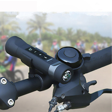 Multi-function 3 In 1 Outdoor Flashlight Bluetooth Speaker Wireless Music Radio Speaker LED Light Bicycle Holder for Cellphone