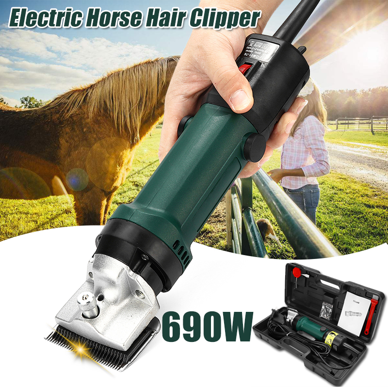690W Electric Sheep Shearing Clipper Scissors Shears Cutter Goat Horse Clipper Machine 13 teeth blade 220V 240V 6 Gears Speed