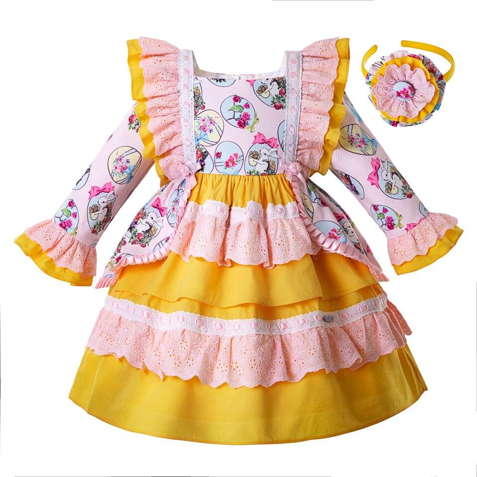 pettigirl wholesale 2019 easter baby dress for girl autumn