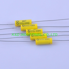 10pcs Vintage Radio Tubular Polyester Capacitor Axial 0.0022uf 223 630V Tube Amp for Guitar