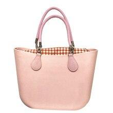 все цены на Ladies Leash beach obag Handbag Handles Women classic trim mini fashion silicone shoulder shopping top waterproof evening O bag онлайн