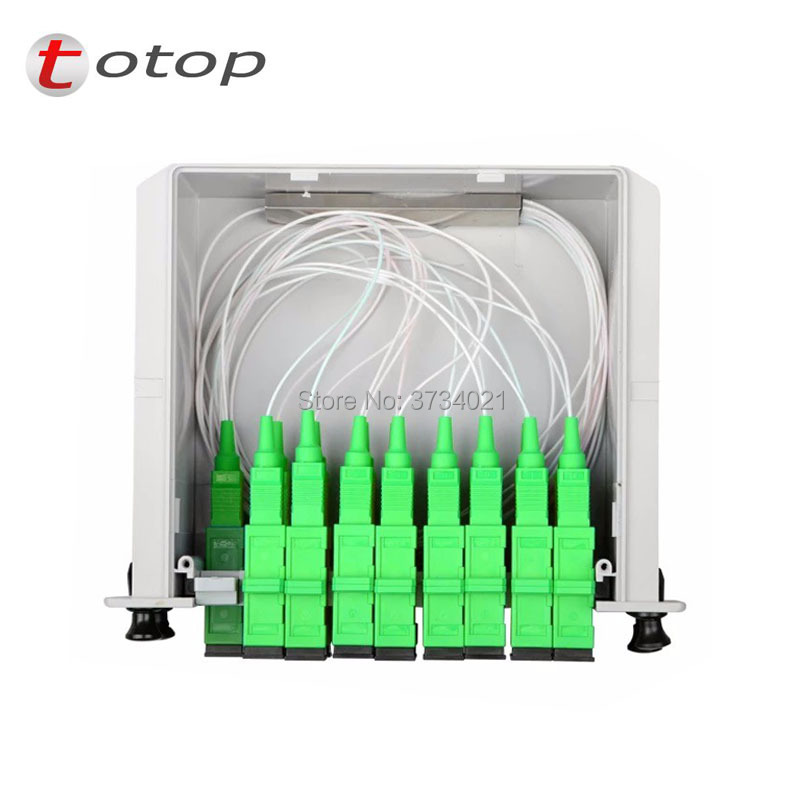 FREE SHIPPING SPLITTER FIBER OPTIC SC APC 1X16 LGX BOX CASSETTE CARD INSERTING SC/APC PLC SPLITTER