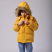 3-10Y дети мальчик зимняя куртка 2016 новый с капюшоном тепловые мальчики верхняя одежда пальто сгустите пуховик дети мальчик одежды снег износ