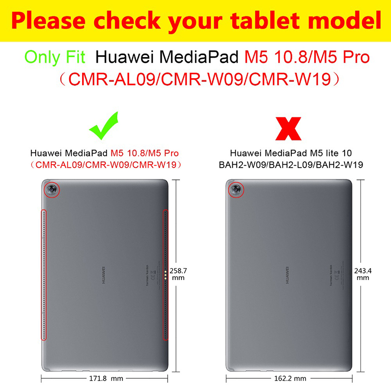 for Huawei MediaPad M5 10 8 M5 Pro Bluetooth keyboard case CRM AL09 CRM W09 CRM W19 Removable wireless keyboard PU Leather cover in Tablets e Books Case from Computer Office