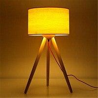 Лофт Nordic простой креативная настольная лампа журнала спальня гостиная прикроватные Office исследование три украшения для ног лампы Бесплатна
