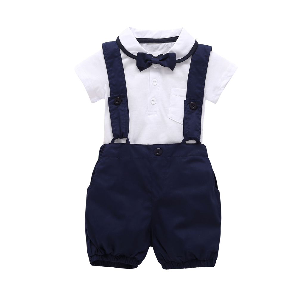 2018 fashion baby boy clothes short sleeve white t shirt for Baby shirt and bow tie