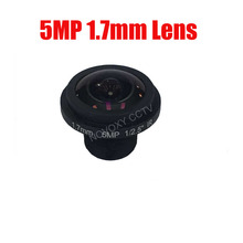 DIY 5Megapixel HD 1.7mm 185 Degrees Fish Eye Wide Angle View Board Lens 5MP 1/2.5″ M12 CCTV / IP Camera Free Shipping