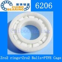 6206 Ceramic Bearing 30x62x16 Zirconia ZrO2 6206