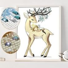 Full Diamond Painting 3D DIY Specail Diamond Embroidery Angel Deer Diamond Mosaic Picture  DP Accessories Home Decor Crpsen