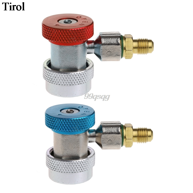 2Pcs Car Auto Freon R134A H/L Quick Coupler Adapters Air Conditioning Refrigerant Adjustable A/C manifold gauge set QC-ML