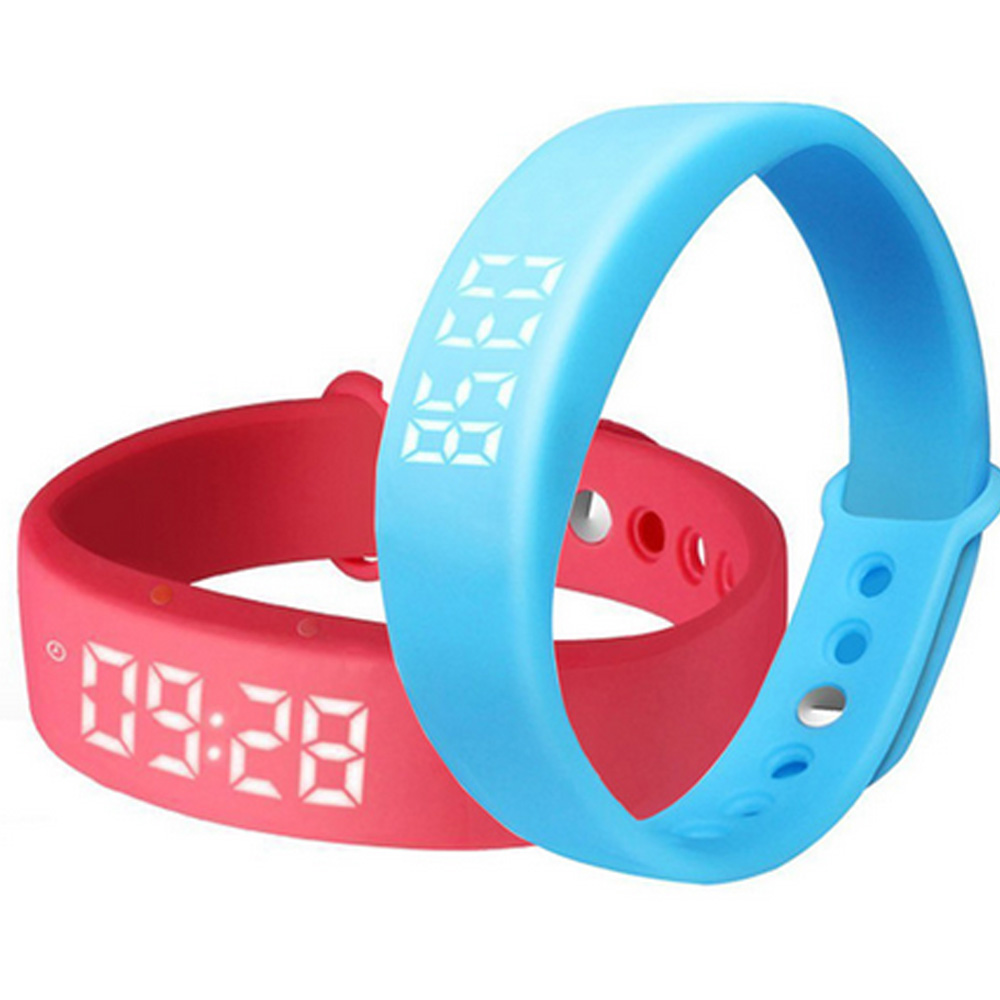 W5 Smart band Real Time Temperature Display Usb Charging Sport bracelet Pedometer Fitness tracker Sleep Monitor Wristband for PC