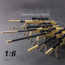 Купить с кэшбэком 2017 Hole Sale 6Pcs/lot World Assemble Gun Model M13 M14 MSR Sniper Rifle Weapon Toys For Children Gifts Compatible With Legoe