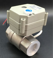 CE утвержден TF25-S2-B 2-способ BSP/NPT 1 »Электрический Нержавеющая сталь Клапан AC/DC9V до 24 В 2 провода для варианта металлический Шестерни