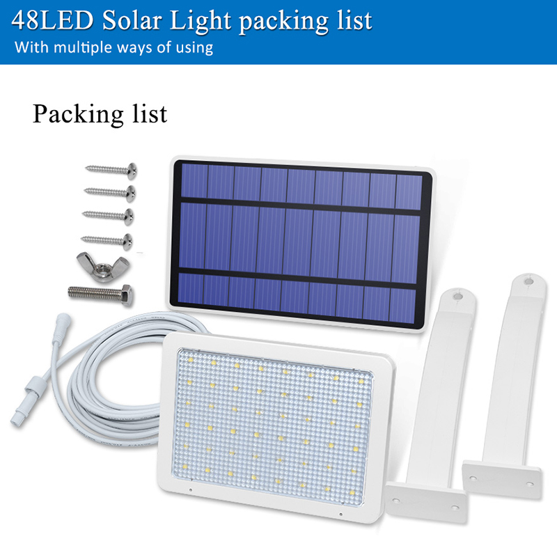 800lm Solar Outdoor Light for with 48 LED With Adjustable Lighting Angle for Garden and Yard Security 4