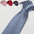 Hombres de la moda corbata de rayas floral para los hombres de negocios corbata del lazo negro rojo púrpura adultos 8 cm