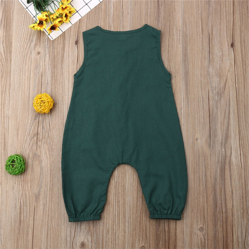 HTB1WmpoTjTpK1RjSZKPq6y3UpXag PUDCOCO Cute Kids Newborn Baby Boy Girl Cotton Linen Romper Solid Sleeveless Striped Jumpsuit Outfit Summer Casual Clothes 0-24M