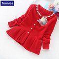 Winter Coat Girl 2016 Fashion Casual Kids Cotton Knitted Cardigan Girls Cute Lace Jackets and Coats Children Clothes Overcoats