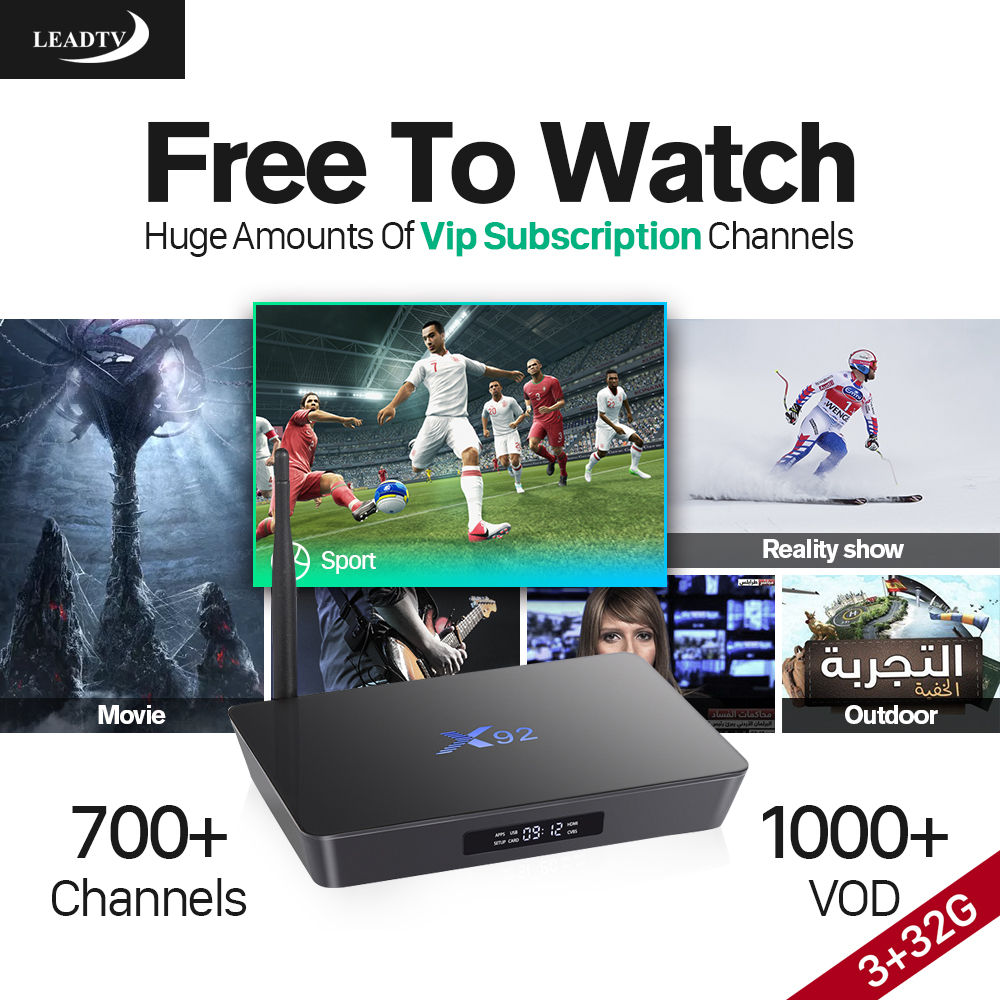 Arabic Smart TV Box Android 6.0 Media Player Octa Core S912 Set Top Box with IPTV Subscription 1Year Europe 700 Channels French gotit cs918 android 4 4 tv box with 1year arabic royal iptv europe africa latino american iptv rk3128 media player smart tv box