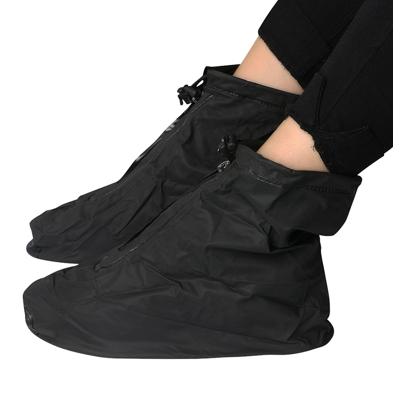 1Pair S-XXL Reusable Rain Gear Boots Snow Shoe Covers Waterproof Shoes Overshoe Comfort PVC Solid Black White Unisex Cover