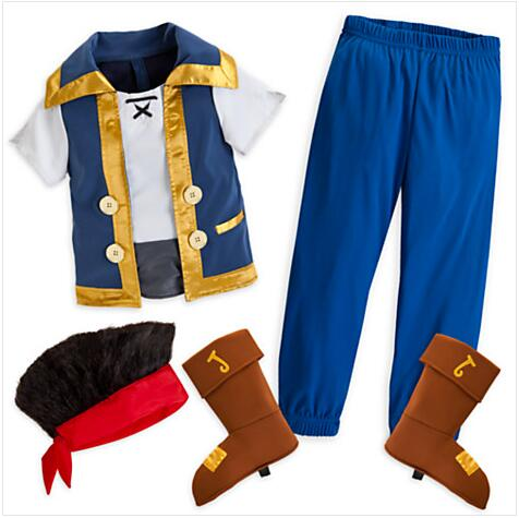 Jake et the neverland pirates Cosplay Jake costume ensemble complet pour adultes/hommes/enfant