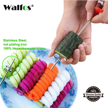 WALFOS 1pc Manual Spiral Screw Slicer Plastic PP + Steel Wire Potato Carrot Cucumber Vegetables Spiral Knife Carving Tool