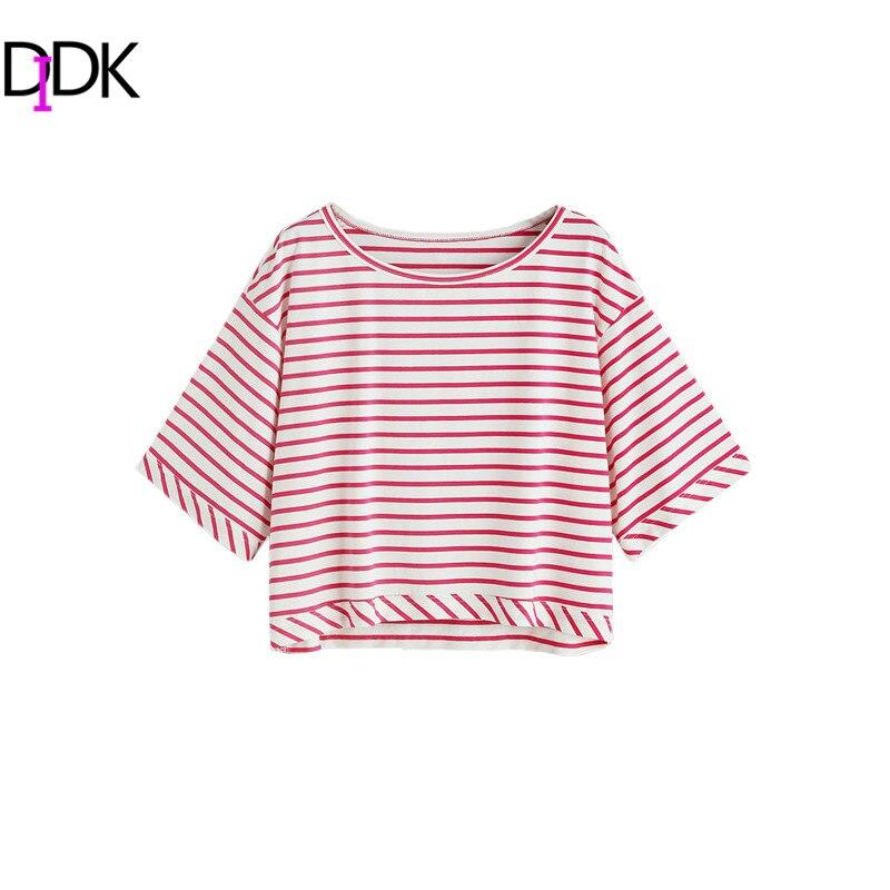 Didk nuevas mujeres camisetas crop tops mujeres 2017 verano de la mujer T shirt