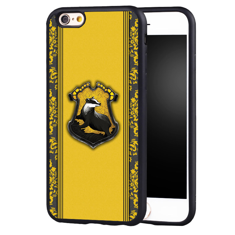 quality design 9a576 42677 US $4.99 |Harry Potter Hufflepuff Logo Soft Rubber Phone Cover Case For  iPhone 5 5C 5S SE 6 6plus 6S 7 Plus-in Fitted Cases from Cellphones & ...