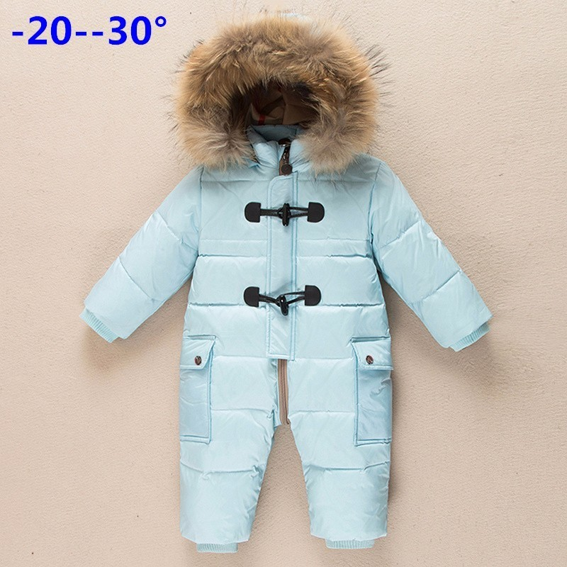 Winter newborn clothes children's clothing winter outwear new year costume down jacket jumpsuit for girls overalls for boys 593