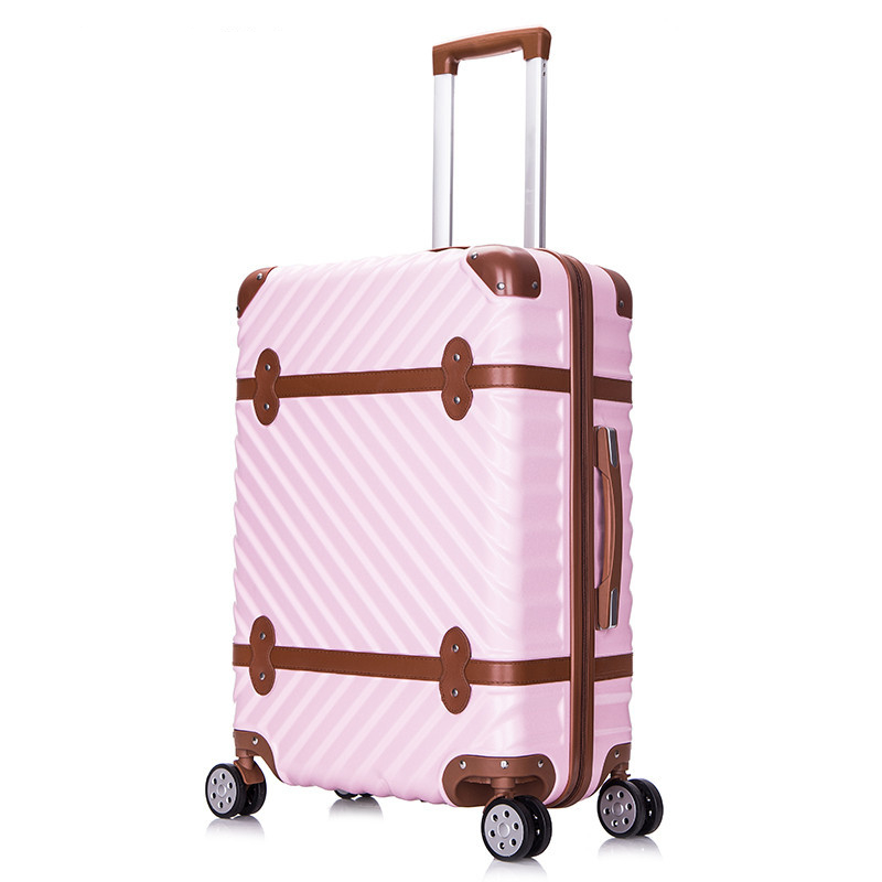 New Arrival!20inches super light abs+pc hardside trolley luggage on universal wheels,vintage fashion wave strap travel luggageNew Arrival!20inches super light abs+pc hardside trolley luggage on universal wheels,vintage fashion wave strap travel luggage