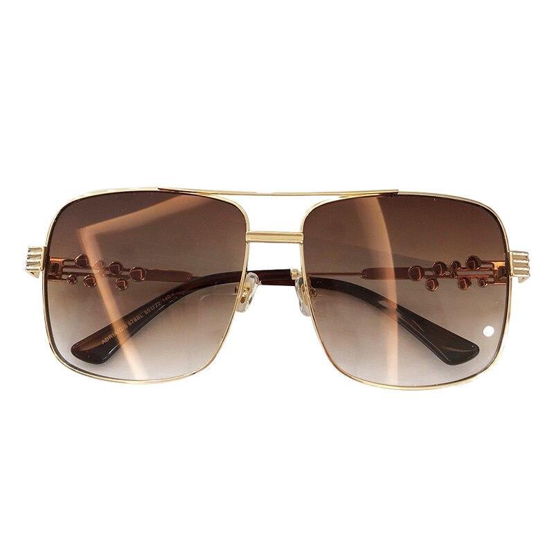 Vintage Square Sunglasses Women 2019 Classic Brand Designer Alloy Frame Sun Glasses Female Oversize Unisex Glasses With Box