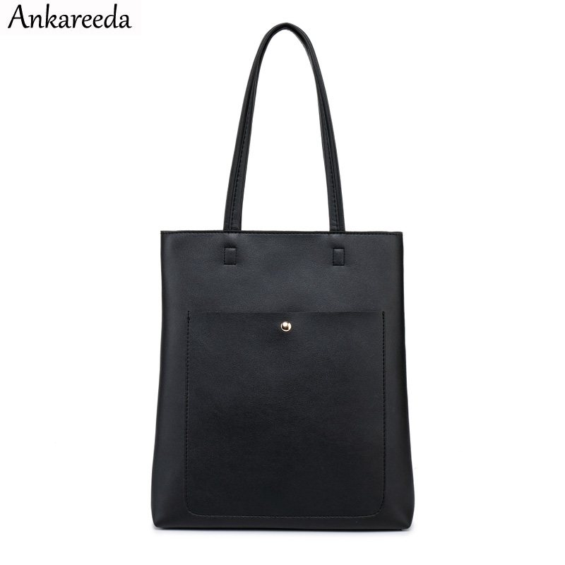 Ankareeda 2020 Women Shoulder Bag Brand Luxury Women's Soft Leather Handbag High Quality Bucket Female Bag Women's Handbags