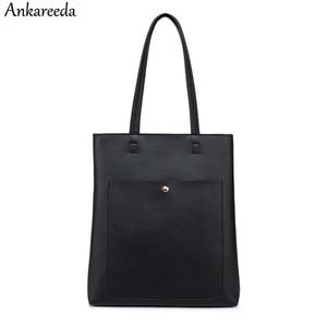 Image 1 - Ankareeda 2020 femmes sac à bandoulière marque de luxe femmes en cuir souple sac à main de haute qualité seau femme sac à main femmes