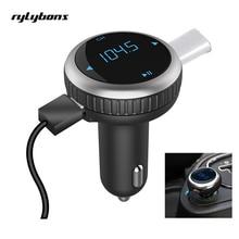 Rylybons Беспроводной bluetooth громкой связи Напряжение Мониторы USB Автомобильное Зарядное устройство Bluetooth fm-передатчик fm-модулятор Автомобильный MP3-плеер